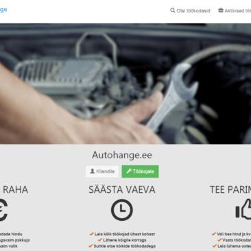 Autohange.ee website